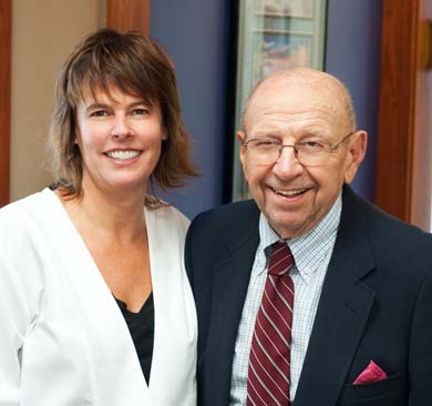 Dr Susan Tikson posed with her late father Dr Robert Ranck whose dental practice she continues.